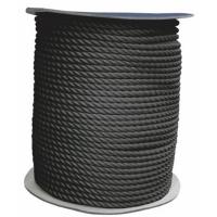 Cabo de amarre y fondeo poliester negro de 3 cordones