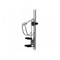 Soporte Inox para Aro Salvavidas y Luz - Soporte para Aro Salvavidas.   Un soporte de fácil instalación para aro salvavidas o boya herradura.