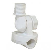 Soporte Antena un solo ajuste para candelero - Se fabrica en nylon reforzado. Para montaje en candeleros con diametros de tubo de 19.1 - 25.4mm.. Un solo ajuste proporciona cuatro direcciones de pocionamiento. Disponible en blanco..   Rosca estandar de 1x14´´