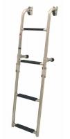 Escalera plegable para espejo de popa, en Acero Inoxidable - Escalera plegable para espejo de popa, en acero inoxidable 316..   Fabricadas en tubo de acero inoxidable de 22mm con peldaños antiderrapante..   Disponible en 3 o 4 peldaños.