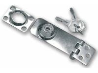 Aldabilla con Cerradura Inox - Aldabilla con cerradura en acero inox AISI 316..   Dimensiones: 77x30mm