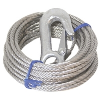 Cable de Winch con gancho 6m - Carga: 1700 kgs.   Largo: 6m / 20ft.   Diametro: 5 mm