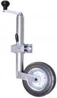 Gato de Remolque con manivela superior y rueda pivotante - Facilita el desenganche del remolque así como mantener el ángulo del remolque cuando no está enganchado.