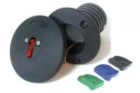 Tapon de cubierta con cierre de boton