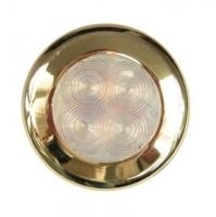 Luces LED para Interior o Exterior con marco dorado - 12V, 35 Amp.Luminosidad 4cd..   Disponibles en luz Blanca o Roja.   Material Policarbonato ABS dorado .   4 Lámparas led.   Incluye 120mm de cable de conxión.