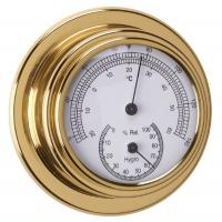 Termometro - Higrometro Standard Case Esfera 70 mm - Termo-higrmetro Standard Case.   Caja de latón pulido y lacado..   Esfera 70 mm.   Base 95 mm.   Altura 40 mm