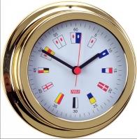 Reloj Numeros Nauticos. Laton pulido Esfera 120 mm - Caja de latón pulido..   Esfera 120 mm.   Base 150 mm.   Altura 45 mm