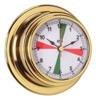 Reloj Standard Case Zonas de Silencio Esfera 70 mm - Reloj Standard Case con zonas de silencio.   Caja de latón pulido y lacado..   Esfera 70 mm.   Base 95 mm.   Altura 40 mm