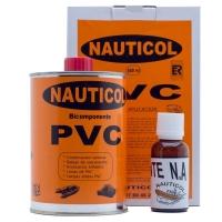 Adhesivo Nauticol 2 Componentes para PVC - El Pegamento de PVC Nauticol es un bicomponente de poliuretano en base solvente, generalmente usado en la industria naval..   Es usado para la fabricación y reparación de lanchas neumáticas, semirrígidas, inflables, balsas o accesorios de PVC flexible..   Envases de: 500 ml, 750ml, 5 litros y 20 litros (Consultar)