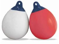 Defensa esferica - Boya hinchable para balizamiento - Defensa de resina de PVC color blanco o rosa, con válvula de seguridad.