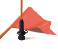 Varilla Railblaza con banderín de 300x150 mm, para kayak o quad - Esta varilla con banderín de 30 x 15 cms. sirve para hacer visible a cualquier kayak o quad. Se monta sobre una base StarPort o SidePort (no suministrada).