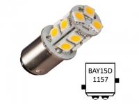 NauticLED Bay15D-T13-CW - 13 LEDs. luz de navegacion color Blanco - Bombillas LED de Navegación con casquillo bayoneta y festoon..   Bay15D Navi-13.   Led de sustitución para 20 W