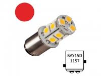 NauticLED Bay15D-T13-RD - 13 LEDs. luz de navegacion color Rojo - Bombillas LED de Navegación con casquillo bayoneta y festoon..   Bay15D Navi-13.   Led de sustitución para 20 W