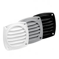 Rejilla de ventilacion redonda Nuova Rade - Rejilla de ventilación para barco, de material plástico.   Ø 85 mm.   Color: Blanco, gris o negro