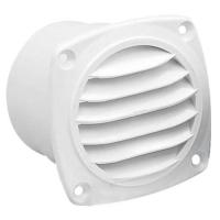 Rejilla de ventilacion redonda Nuova Rade con junta - Rejilla de ventilación para barco, de material plástico, con junta.   Ø 70 mm.   Color: Blanco