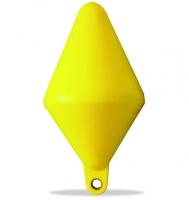 Boyas de señalizacion biconicas - Fabricadas en material plástico rígido.   Anillas reforzadas por guardacabos metálicos.