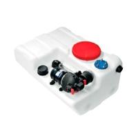 Kit Deposito Rigido BORA para Agua Potable, con Bomba de 8L/minCapacidad 40, 60, 80 o 100 litros - Depósito de agua potable BORA, para instalaciones en versión horizontal, con bomba de aspiración de 8 L/min - 12V..   Capacidad: 40, 60, 80 o 100 Litros. Compatible con aforador de 200mm