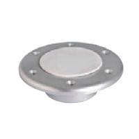 Base inferior empotrable de Aluminio, para Pedestal de Mesa Nuova Rade - Base de aluminio para la parte inferior del pedestal de mesa..   - Diámetro: 150 mm.   - Altura sobre cubierta: 9,5 mm
