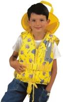 Chaleco Salvavidas Typhon para niños 100N, CE ISO 12402-4 - Asegura el enderezamiento y mantiene la cabeza fuera del agua..   Color Amarillo con dibujos de igloo