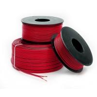 Cable Paralelo Bicolor - Hilo de cobre electrolítico recocido y aislante de PVC flexible, previsto para una temperatura máxima en servicio permanente de 85ºC. Tensión nominal: 250/250v. Tensión de prueba: 2000V. Según norma UNE 21022. .   Se vende a metros, cantidad mínima 5 metros