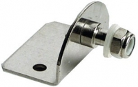 Soporte Curvo 90º con Tornillo para Amortiguadores - Para sujeción de los amortiguadores de gas..   Fabricado en ecero inoxidable de 2mm.