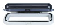 Tapa Estanca para Radio - Frontal estanco con tapa para radio, fabricada en Plexiglass..   Abertura y cierre estanco..   Dimensiones: 230x110mm.