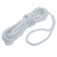 Cabo de amarre en poliester de 3 cordones blanco o azul, con gaza
