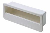 Caja de Estiba con Protector - Para estibar en cubierta todo tipo de materiales con seguridad..   Fabricado en plástico color blanco..   Dimensiones: 420x170x120mm.