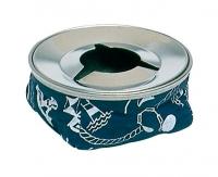 Cenicero Nautico Acero Inoxidable - Cenicero Nautico Acero Inoxidable Azul.   Fabricado en acero inoxidable y loneta..   Con paraviento. Antideslizante..   Decorado con motivos náuticos en color azul.