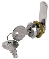 Cerradura Laton Cromado con Llave para Cofres - Cierre para tambucho, de 19 mm de diámetro, con apertura mediante giro..   Longitud: 16, 20, 25 o 30 mm