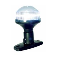 Luz LED Todo Horizonte Fija 10 cm - Luz todo horizonte con tecnología LED para barcos menores de 12m. .   Base de plástico negro que nos permite instalarla de forma fácil. .   Longitud: 10 cm.