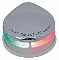 Luz de Navegacion LED Bicolor, para embarcaciones menores de 20 m. - Cumple con las normativas R.I.N.A. y NMMA USA para barcos de hasta 20 m de eslora. Distancia visible: 2millas náuticas. 12V DC & 2.2W. Luz LED 225 Bicolor. Acabado: Plástico blanco ABS; o AceroInoxidable