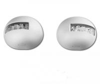 Juego de luces de navegacion LED, para embarcaciones menores de 12 m. - Juego de luces de navegación LED 12 voltios, babor y estribor. Homologadas para barcos de hasta 12 mts..   Cuerpo ABS color blanco..