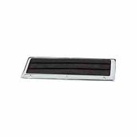 Placa Antideslizante - Placa antideslizante de plástico con marco de zinc cromado..   Dimensiones: 222x83mm