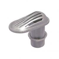Toma de Agua Inox con Pasacasco - Rejilla de toma de agua. De acero inoxidable..   Disponible en varios tamaños con diferentes diámetros de rosca, según sus necesidades. Se suministra con tuerca y arandela.