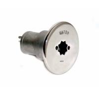Tapon de Llenado Agua Inox con cierre manivela winch o llave.  Ø 38 mm
