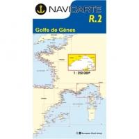 Carta Náutica Navicarte R2 - Golfe de Gênes - Hyères - Calvi - Ile dElbe - R2 Golfe de Gênes - Hyères - Calvi - Ile dElbe.   Edición Francesa.   Escala 1:350.000