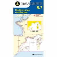 Carta Náutica Navicarte R7 - Mediterranee Occidentale - R7 Mediterranee Occidentale.   Edición Francesa.   Escala 1:1.000.000