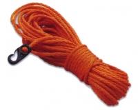 Rabiza Reglamentaria para Aro Salvavidas 8mm - Cabo naranja de polietileno trenzado flotante de Ø 8mm y 30 mts. de largo..   Con mosquetón en el extremo para sujección al aro salvavidas