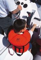 Chaleco Salvavidas Typhon para niños 100N, CE ISO 12402-4 - Asegura el enderezamiento y mantiene la cabeza fuera del agua.