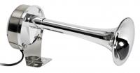 Bocina diafragma acero inox / ABS - Cuerpo en acero inoxidable pulido y bocina en ABS.