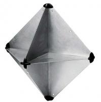 Reflector Radar Tipo Octaedro - Fabricado en aleación ligera con funda de plástico.