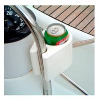 Soporte de Vasos Ocean para Barandilla - Para botellas, latas, vasos, envases. También es muy útil para el VHF, GPS, gafas de sol, etc  Fabricado en polietileno sólido, flexible y resistente..   Fácil instalación, sistema