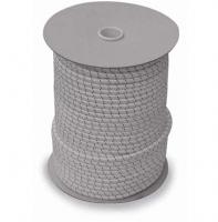 Cabo elastico recubierto de poliester - Cordón elástico Ø 4, 6, 8 o 10 mm.   Funda de poliester alta tenacidad y alma de tiras de goma elasticidad 100%.   Color: Blanco o Negro.   Precio por metro.