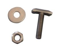 Kit pantalán para fijacion defensas tipo bumper - Juego de tornillo, tuercay arandela de acero inox. Aisi 316 para las defensas del pantalán.   Diámetro rosca: 9,44 mm.   Servido por unidad