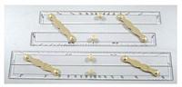 Reglas paralelas barras de latón pulido de 12