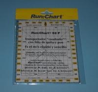 Transportador cuadrado Run:Chart Con Hilo  165x140 - Transportador cuadrado rígido con rumbos cuadrantales especial para enseñanza, así como los rumbos y demoras directos e inversos..   Medidas: 165x140.   Incorpora un hilo de nylon de