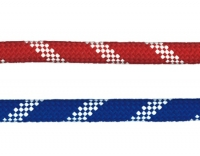 """Escota nautica Gamma - Escota """"Gamma"""". Doble trenzado. Alma y funda de poliéster alta tenacidad. Preestirado. Tacto suave..   Diámetro: 8, 10, 12 o 14 mm.   Color: Rojo/Blanco o Azul/Blanco.   Precio por metro.   Cantidad mínima 10 mts."""