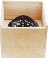 Compás de bote en caja de madera C4
