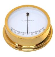 Clinometro de Aceite Laton Pulido 120mm - Indispensable para el control de la escora de su embarcación. Graduación de 0 º hasta 45 º